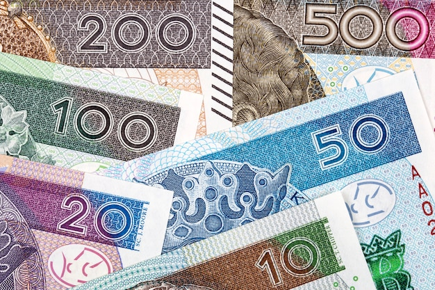 Polish money, a business surface
