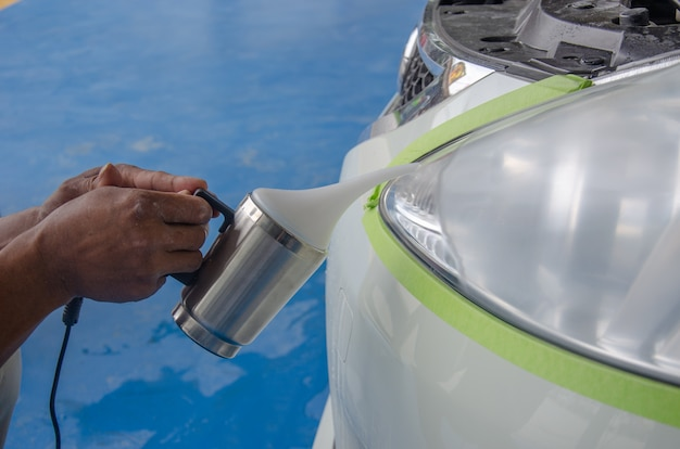 Polished car lamp
