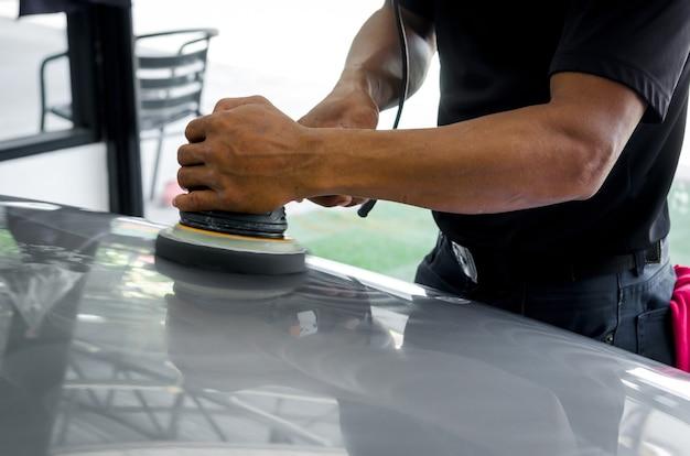 Полировка автомобиля, подготовка поверхности автомобиля перед нанесением керамики.