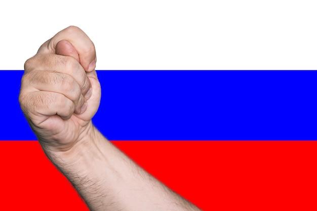 Политическая метафора. инжир на фоне цветов российского флага.