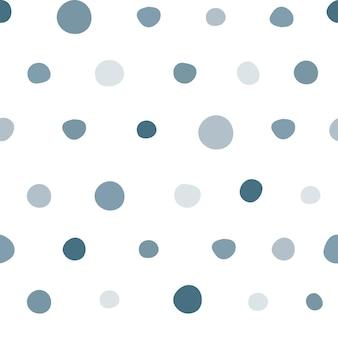 水玉模様のシームレスパターン。スカンジナビアスタイルの壁紙。生地、テキスタイルプリント、ラッピングのシンプルなデザイン。ベクトルイラスト