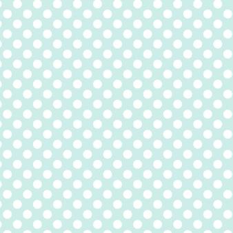 水玉模様のシームレスパターン。青い背景に白い点。チェック柄、テーブルクロス、衣類、シャツ、ドレス、紙、寝具、毛布、キルト、その他の繊維製品に。