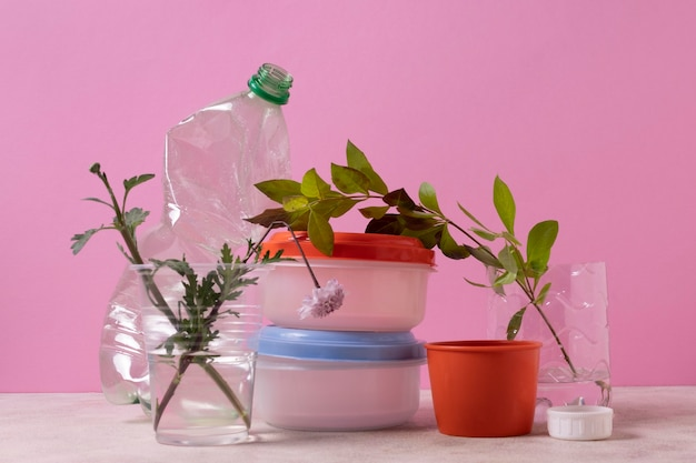 Pollution concept of plastic waste
