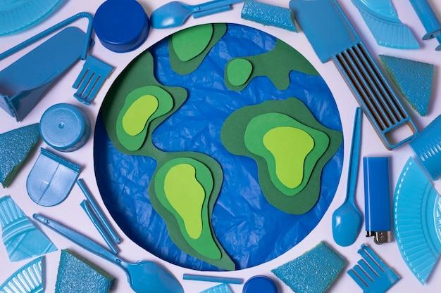 Concetto di inquinamento dei rifiuti di plastica
