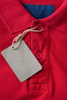 Polo shirt with tags