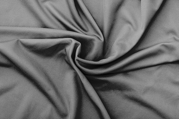 Polyester wrinkle black fabric texture