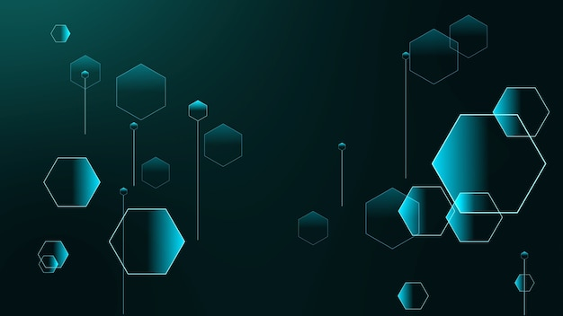 Polygon futuristic relations of small and big hexagons on gradient background