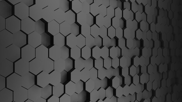Polygon gray abstract background