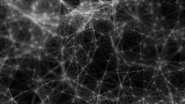 Concetto di big data di connessione di rete di forme astratte poligonali