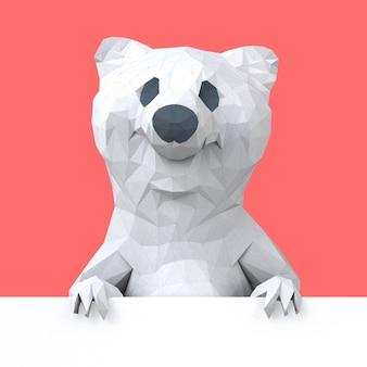 多角形のクマのイラスト