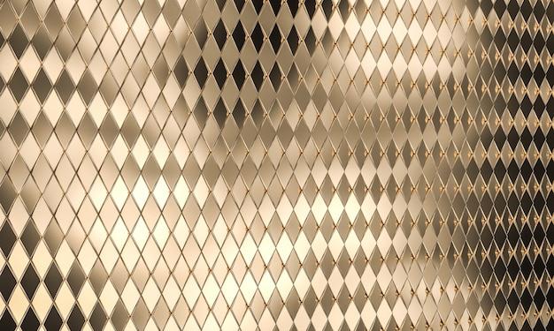골드 컬러 모자이크로 다각형 렌더링 이미지