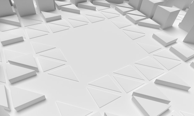 Polygonal shapes background high view