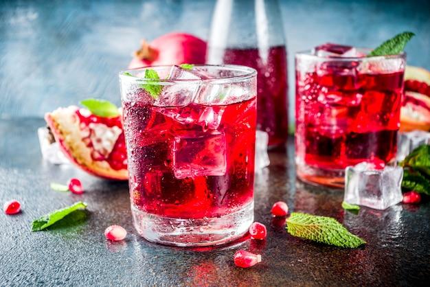 Pomegranate fall cold beverage