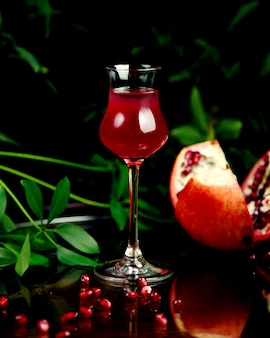 Pomegranate juice on the table