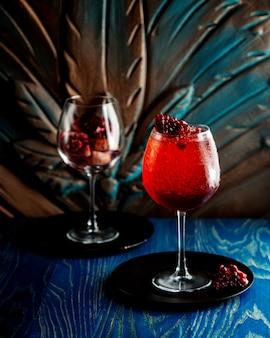 Pomegranate juice with ice