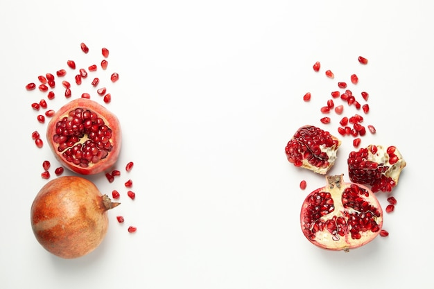Pomegranate and seeds