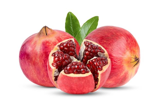 Pomegranate on wite background