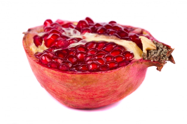 Pomegranates on white
