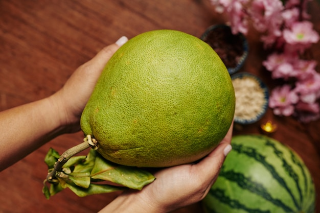 Pomelo fruit for lunar new year