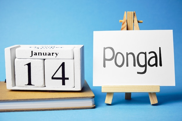 Pongal harvest festival in india of month january.