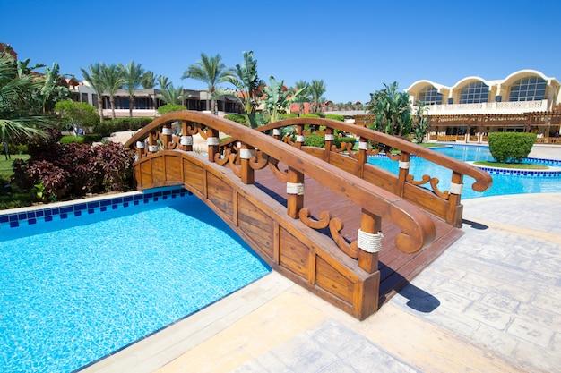 Pool of a hotel resort