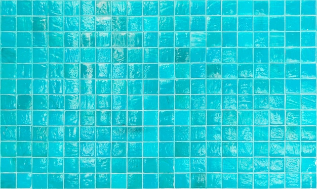 Pool house blue tiles pattern design