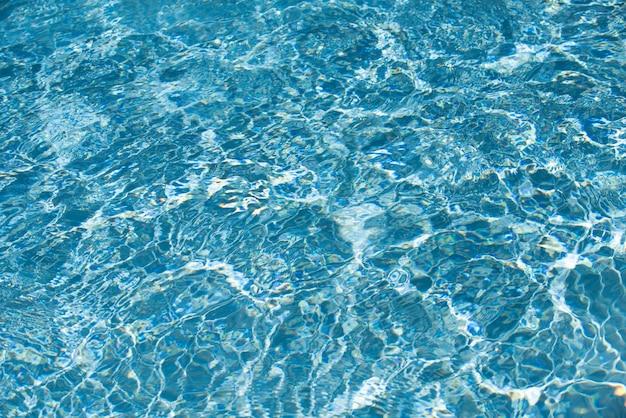 プールの水の背景青い波の抽象的なまたは波状の水のテクスチャの背景