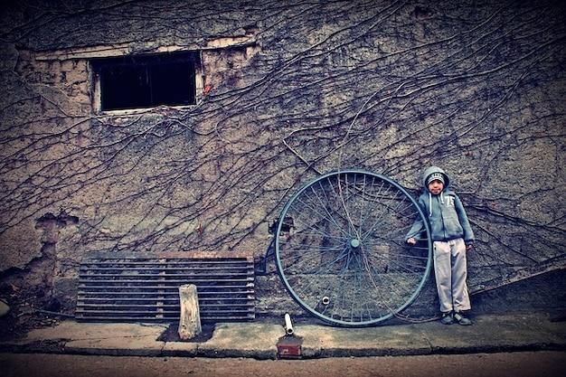 Poor child humble wheel