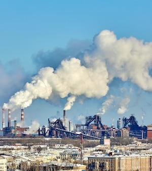 도시의 열악한 환경. 환경 재앙. 환경에 유해한 배출. 연기와 스모그. 식물 공장에 의한 대기 오염. 배기 가스