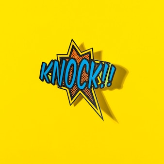 Pop art knock explosion background in comic style