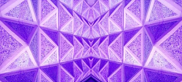 Pop art style symmetry 3d perspective architectural lines in vibrant purple color