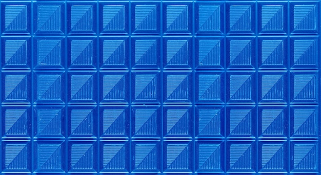 Pop art surreal style royal blue colored chocolate bars for abstract background