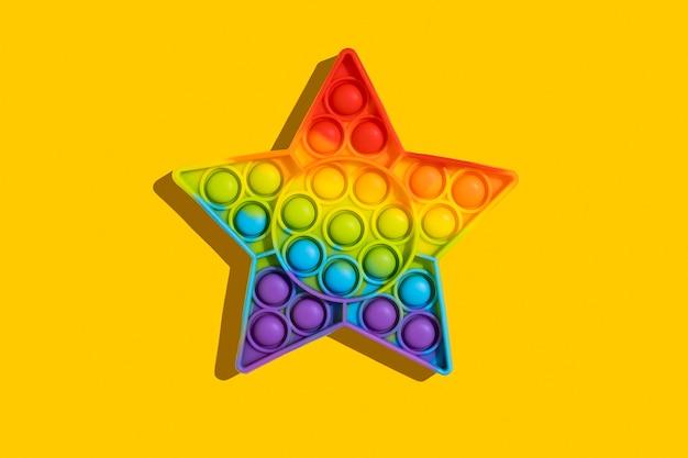 Модная силиконовая игрушка цвета радуги