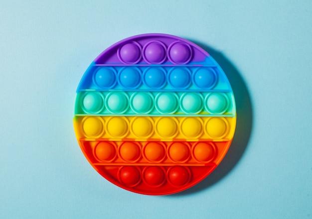 Силиконовая игрушка pop it на синем b
