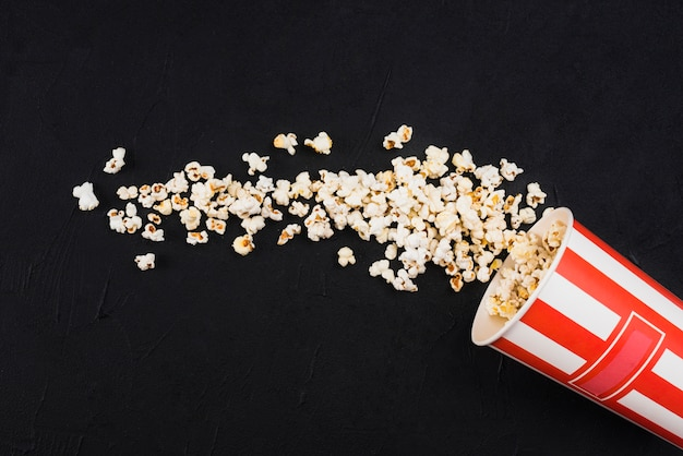 Popcorn background for cinema concept