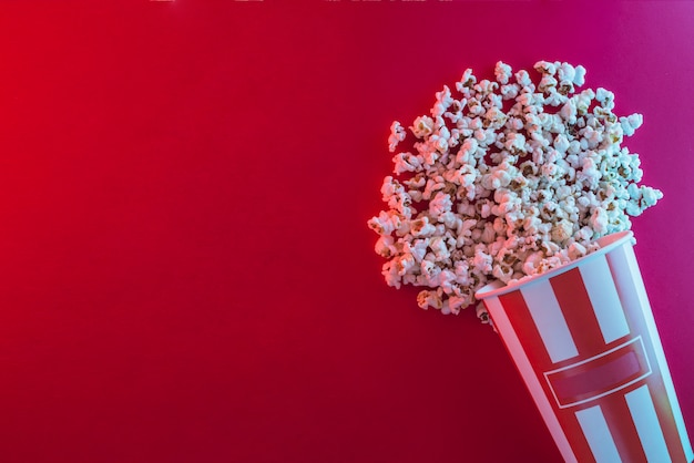 Popcorn background for cinema concept
