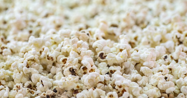 Popcorn background. texture popcorn close up