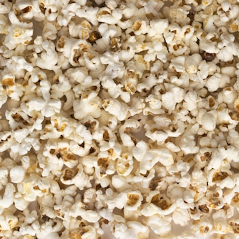 Popcorn background or texture top view and flat lay
