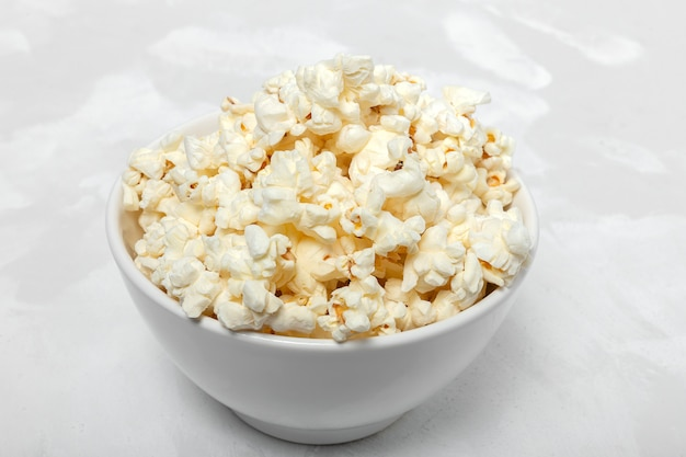Popcorn on colored backgrounds