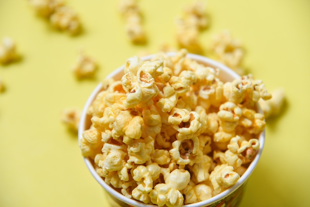 Popcorn in cup bowl