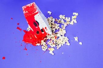 Popcorn in pool of blood