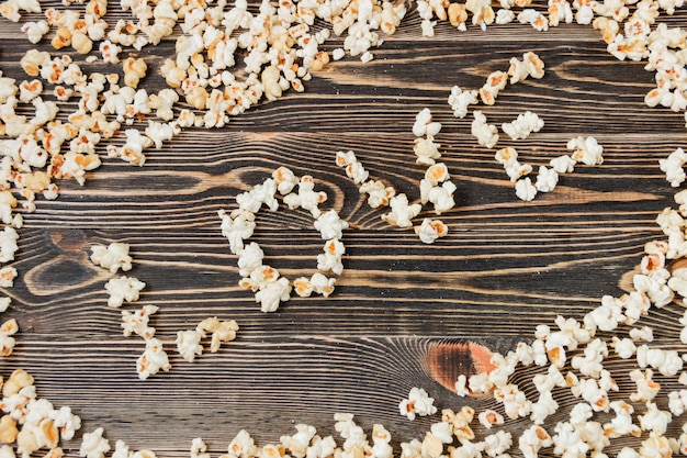 Popcorn love texture background unhealthy food