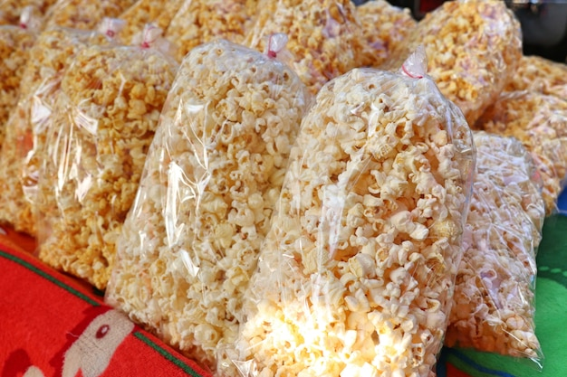 Popcorn in the market