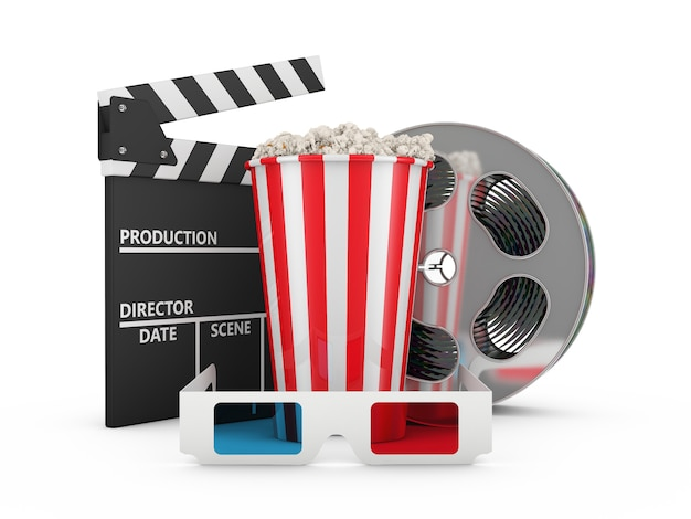 Popcorn, reel of film