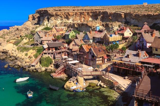 Popeye village in the sunny day, malta