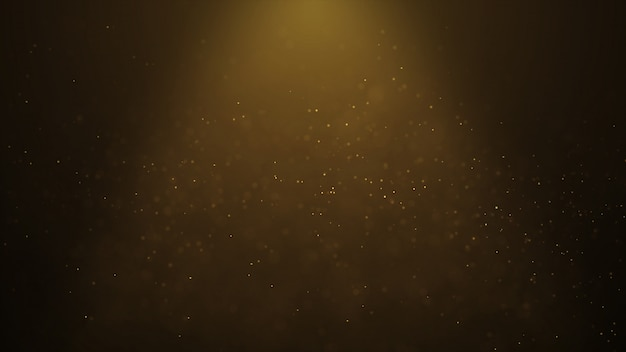 Popular abstract background shining gold dust particles stars sparks wave 3d animation