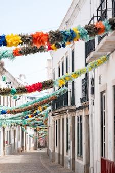 Popular saints decoration in a street
