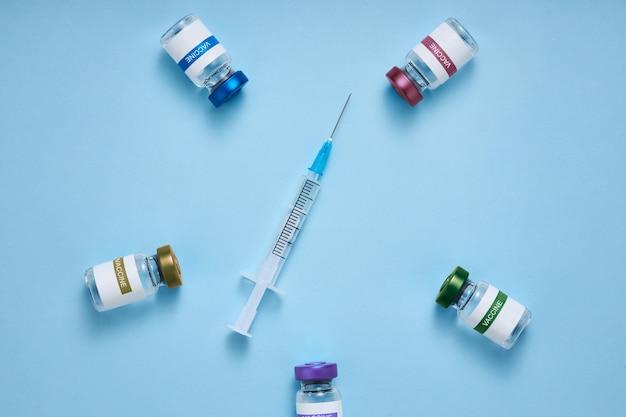 인구 보호 의료 개념입니다. 코로나19 예방접종 포스터