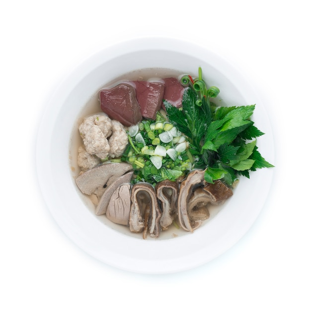Pork blood soup is clear soup that uses pork blood