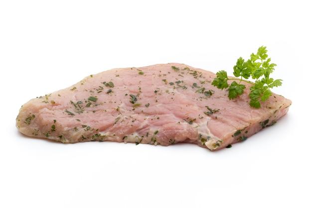 Свиная отбивная, маринованная изолированно